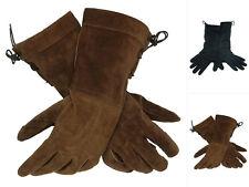 Epic Armoury Wildleder-Handschuhe Lederhandschuhe Leder Mittelalter LARP M-L