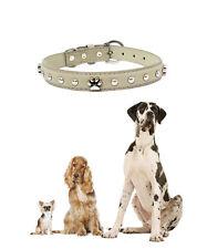 Collare per cani in ecopelle con borchie a forma di zampa varie taglie e colori