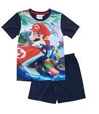 Nintendo Super Mario Bros Schlafanzug Pyjama kurz blau Gr.104,116,128,140,152