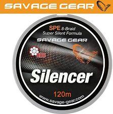 (0,17€/1m) Savage Gear HD8 Silencer Braid 120m geflochtene Schnur, Angelschnur