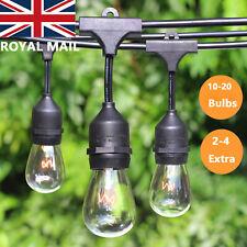 11/20 m Vintage Industrial Style Connectable Waterproof Festoon String Lights UK