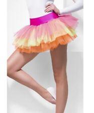 NEW Tutu Underskirt - Neon 80's Retro Multi Coloured Fancy Dress Accessories