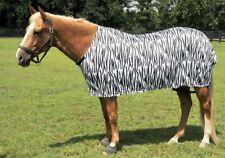 ENGLISH OR WESTERN HORSE STRETCH LYCRA SHEET OR HOOD ZEBRA PRINT PONY 600-800 lb