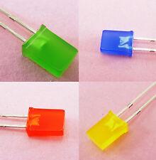 Rectangular LED 2x5x7mm Diffused Light Emitting Diode 5mm x 2mm DIY Indicator