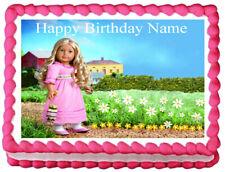 AMERICAN GIRL CAROLINE Party Image Edible Cake topper Design