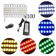 50ft 100pcs 5630 SMD Module Waterproof Light 12V Sign Design + Power Kit Set