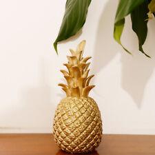 Kreative Harz-Ananas-geformte Verzierung goldenes Prunkstück