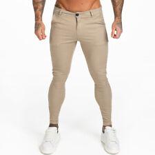GINGTTO Men Chino Skinny Slim Fit Khaki Chinos Stretch Dress Pants Ankle Tight