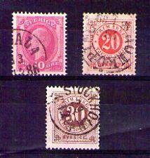 Suecia valores del año 1886-99 (U-20)