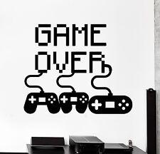 Wall Decal Gaming Joystick Joypad Gamepad Game Over Vinyl Decal (z3107)