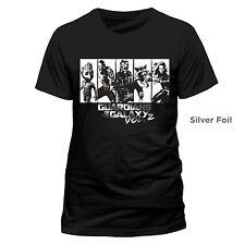 argent bandes GARDIENS DE LA GALAXIE vol. 2 OFFICIEL unisexe noir T-shirt