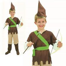 Boys Robin Hood Costume Boys Book Week Day Peter Fairytale Fancy Dress New