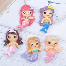 10 pcs Cartoon Resin Cabochons Many Kinds Mermaid Flatbacks Crafts Decorations