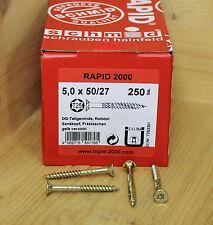 Rapid® 2000 Holzbauschrauben mit Zulassung Spanplatten Schrauben Torx