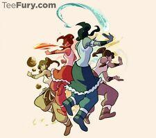 LEGEND OF KORRA Avatar Last Airbender Bending Limited Ed. Womens T-Shirt (S-XL)