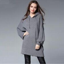 vestitino abito corto felpa maxi maglia morbida grigio comoda morbido 3927