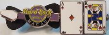 Hard Rock Hotel MACAU 2009 Blackjack Spinner GUITAR PIN Ace & King BJ 21 #52327
