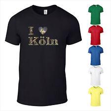 T-Shirt I Love Köln Kölle Dom Schlösser Stadt Liebe Brücke Herz  Like bedruckt