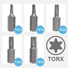 Torx Bits T10 T15 T20 T25 30 T40 Bitsatz TX Bit Set Schraubendreher Stahl S2
