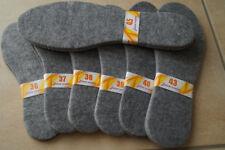 NEU Filz Winter Einlegesohlen Schuheinlagen Filzsohlen 2 Paar dicke 4-5 mm