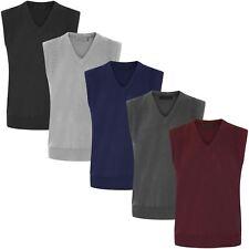 Suéter Para Hombre Sin Mangas Knitted Jumper Escote en V TIRE/RESBALÓN en géneros de punto suave Prendas para el torso