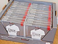 Kirkland Signature para hombre cuello en V 100% Algodón Pima 4 Pack camisetas Pequeño/MED BNWT