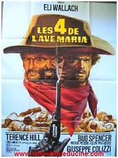 LES 4 DE L'AVE MARIA Affiche Cinéma / Movie Poster TERENCE HILL BUD SPENCER