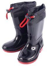 Niños Niñas Negro Botas de lluvia para niños WELLIES WELLINGTONS niños de la Escuela Zapatos De Agua