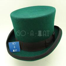 CLASSIC Wool Felt Men Tuxedo Top Hat Victorian Topper Gentlemen | Green | 3 Size