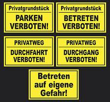 Schild Parken verboten Betreten Durchfahrt auf eigene Gefahr Parkverbot Privat