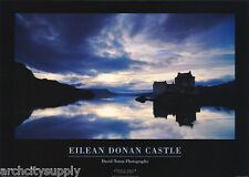 POSTER : CASTLE - EILEAN DONAN - SCOTLAND by DAVID NOTON 1995 - #PE1058   LW2 G