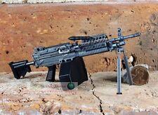 MK46 Mod 0 1:6 Figure Para Stock Military M249 Light Machine Gun Model MK46_E
