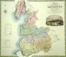 Mapa de Lancaster-C J Greenwood - 39cms X 33cms