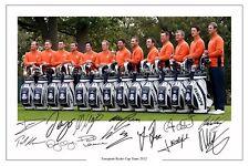 L'Europe 2012 Ryder Cup Team signé autographe photo print