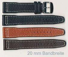 Echtes Büffel-Leder-Uhrenband, 20+21+22 mm, insbesondere IWC geeignet