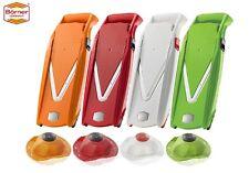 Borner V5 (V) Mandolin Vegetable/Fruit Slicer Cutter Chopper + Safety Holder