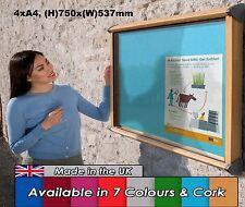 Outdoor Exterior Weatherproof Lockable Notice Board Showcase 4xA4, Oak efffect