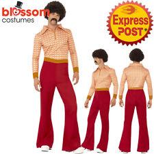 CA156 70s Authentic Guy Hippy Hippie Dance Disco Retro Fancy Dress Up Costume