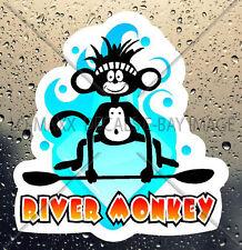 River Monkey Whitewater Watersports Kayaking Boating Outdoor Sport Vinyl Sticker