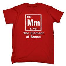 Mm el elemento de tocino para hombres Camiseta Camiseta Geek Nerd química Divertido Regalo De Cumpleaños