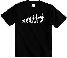 Guitarist T-Shirt Evolution of Guitar Premium T Shirt Evolve of man Dad Rockstar