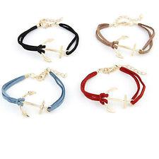 Bracelet en alliage en forme d'ancre pour femme