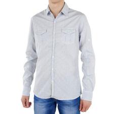 Para hombres camisa de manga larga elegante Redsoul Blythe Chemise Azul 100% algodón