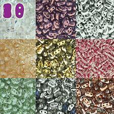 BI-BO Hour Glass Czech Glass 2 hole Seed Beads 5.5mm x 2.8mm 22 gram U-Pick