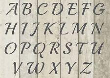 Lettres De L'Alphabet POCHOIR MYLAR VINTAGE français AVANT loisirs créatifs 190