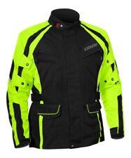Castle Street Mens Mission Air Black Hi-Viz Waterproof Motorcycle Touring Jacket