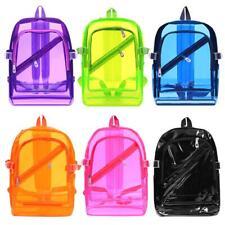Student PVC Clear Waterproof Backpacks Teen Hologram Shoulder School Bookbags