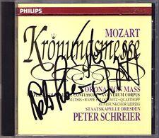 Peter SCHREIER & QUASTHOFF Signed MOZART Krönungsmesse MATHIS CD Coronation Mass