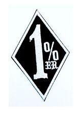 Aufnäher Aufbügler Patch 1% Rocker Biker Harley 4 Farbvarianten