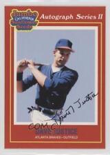 1991 Jumbo California Sunflower Seeds #15 David Justice Atlanta Braves Card